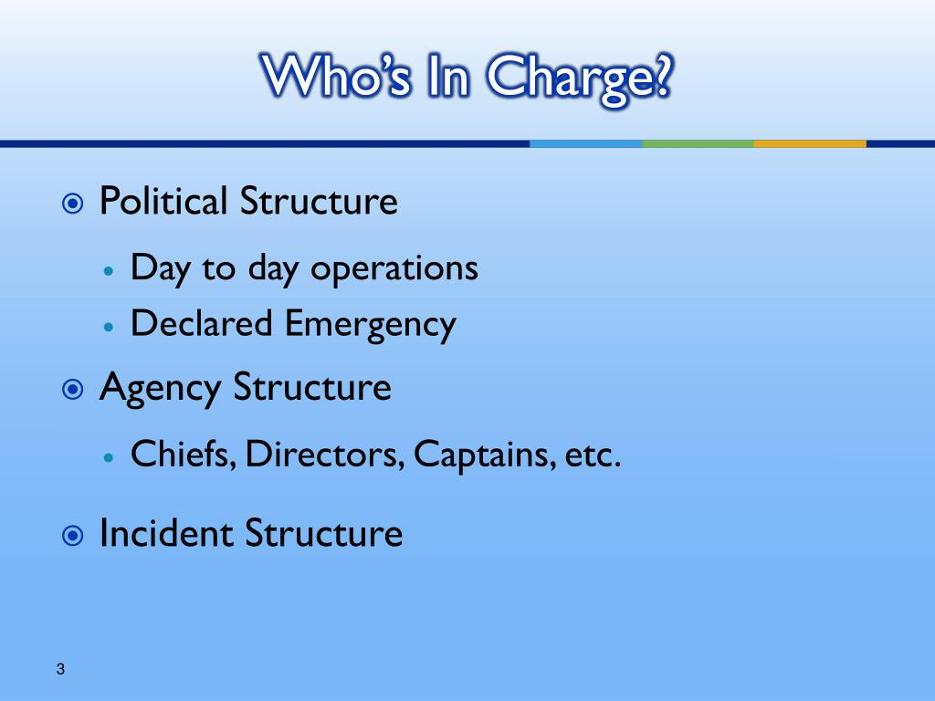 Who's In Charge?