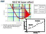 50 2 w laser effect