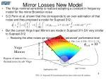 mirror losses new model