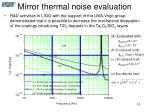 mirror thermal noise evaluation