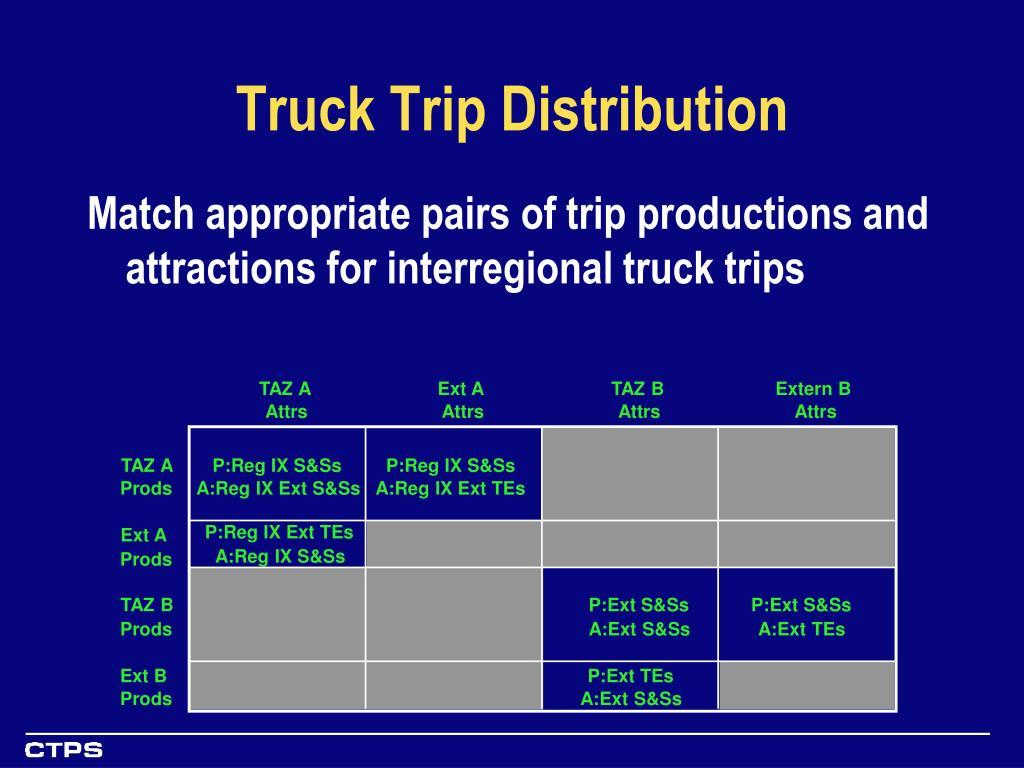 Truck Trip Distribution