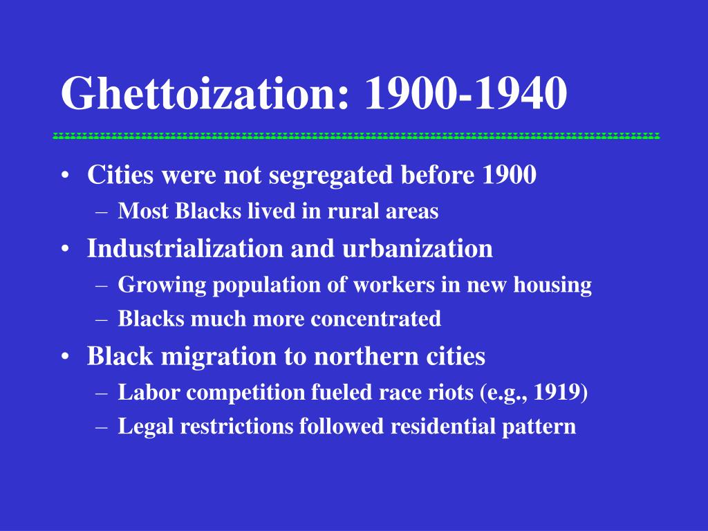 ghettoization 1900 1940