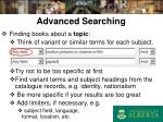advanced searching10