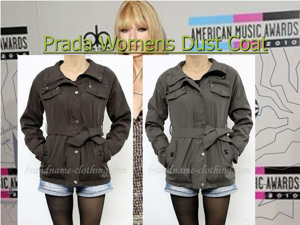 prada womens dust coat l.