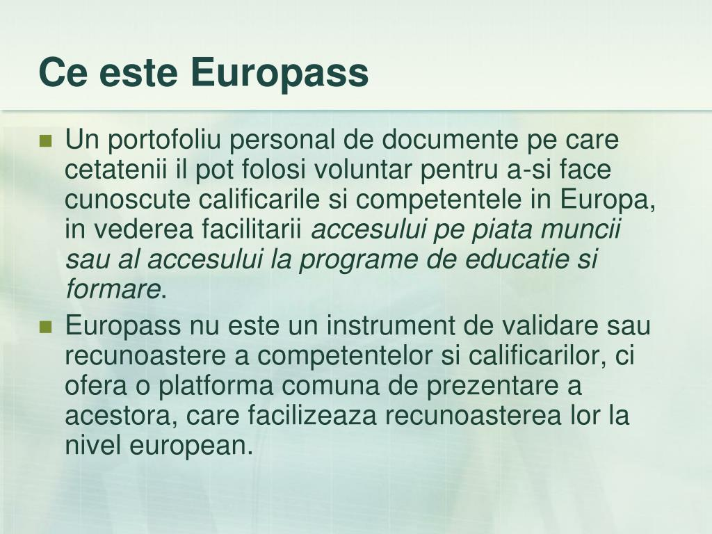 Ce este Europass