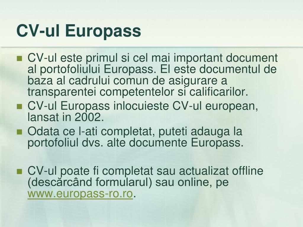 CV-ul Europass
