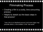 filmmaking process