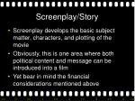 screenplay story