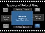 typology of political films19