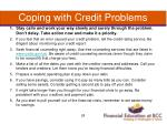coping with credit problems