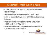 student credit card facts