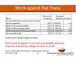 work spend rat race