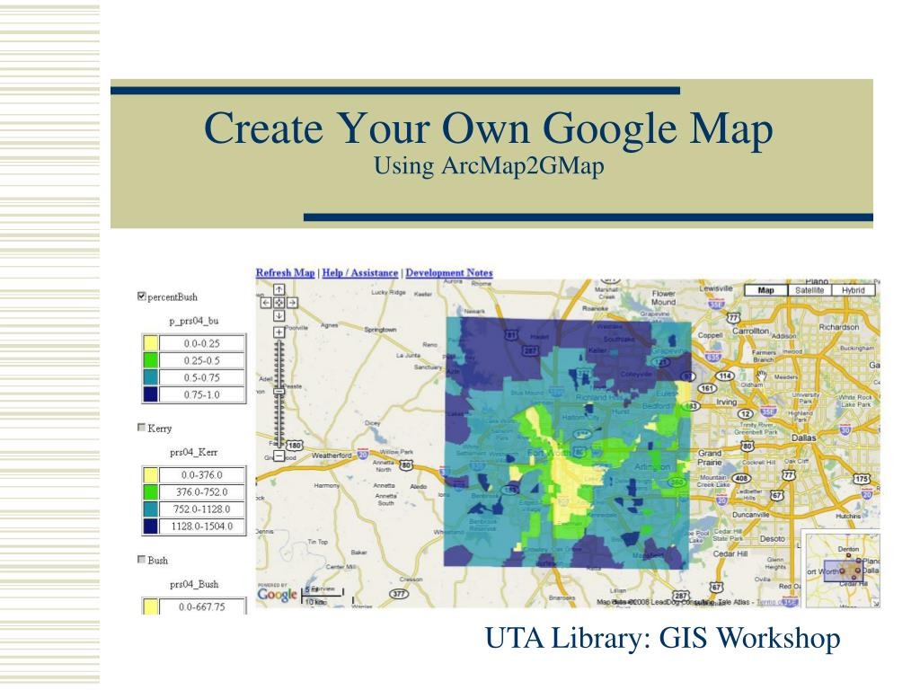 create your own google map using arcmap2gmap l.