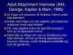 adult attachment interview aai george kaplan main 1985