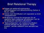 brief relational therapy