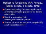 reflective functioning rf fonagy target steele steele 1998