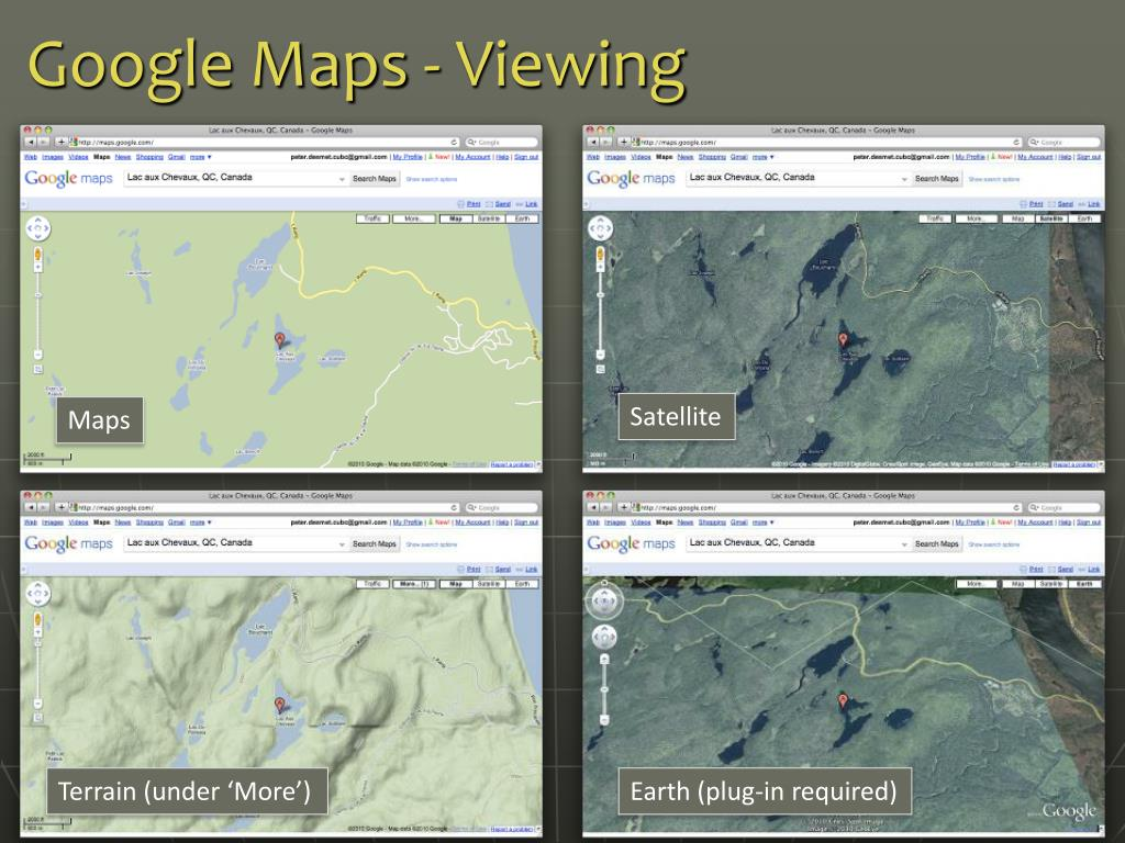 Google Maps - Viewing