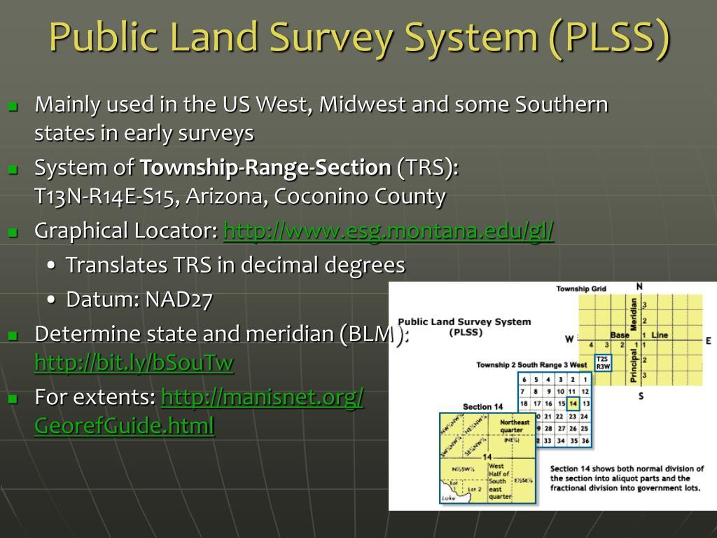 Public Land Survey System (PLSS)