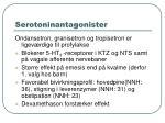 serotoninantagonister