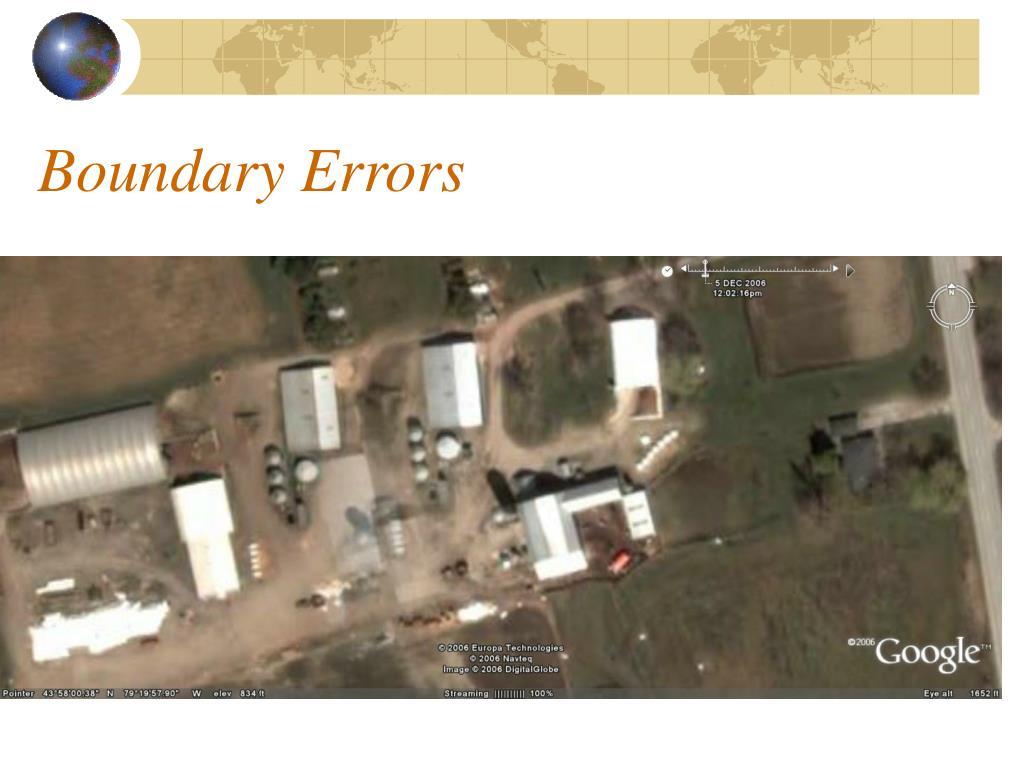 Boundary Errors