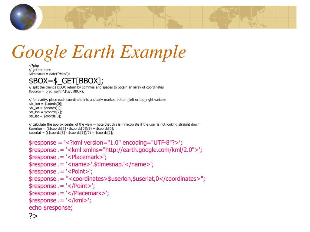 Google Earth Example