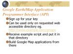 google earth map application programmer interface api