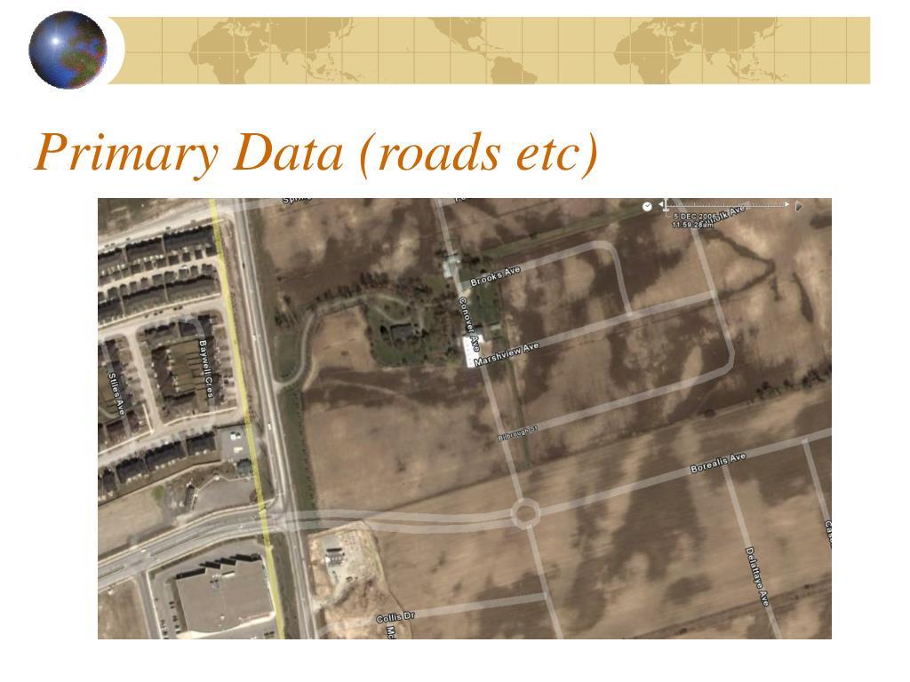 Primary Data (roads etc)