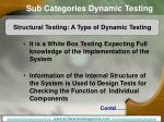 sub categories dynamic testing11