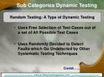 sub categories dynamic testing13