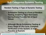 sub categories dynamic testing14