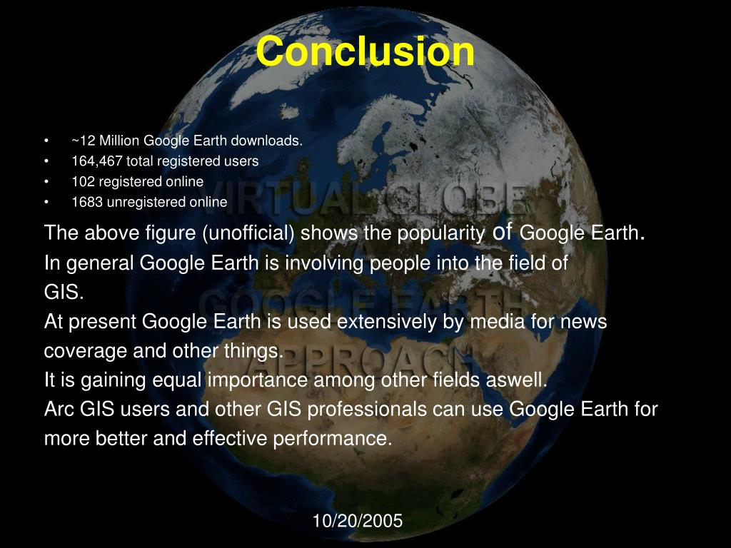 PPT - GOOGLE EARTH PowerPoint Presentation - ID:45504