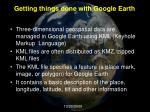 getting things done with google earth