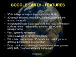 google earth features