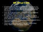 ms virtual earth