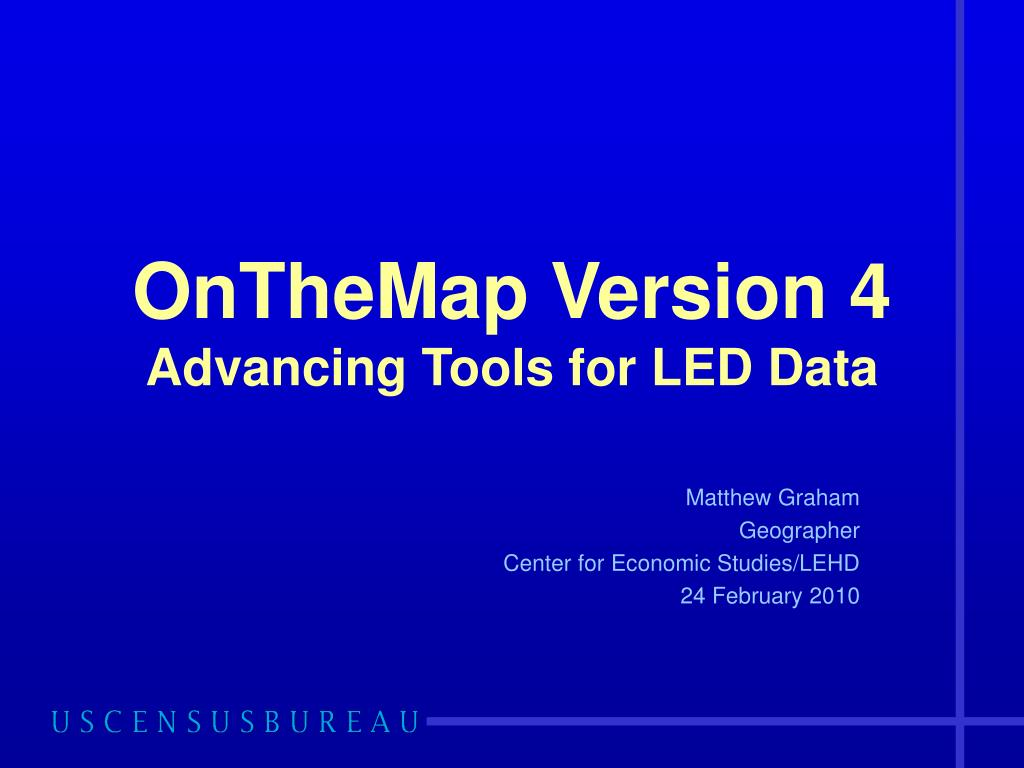 onthemap version 4 advancing tools for led data l.