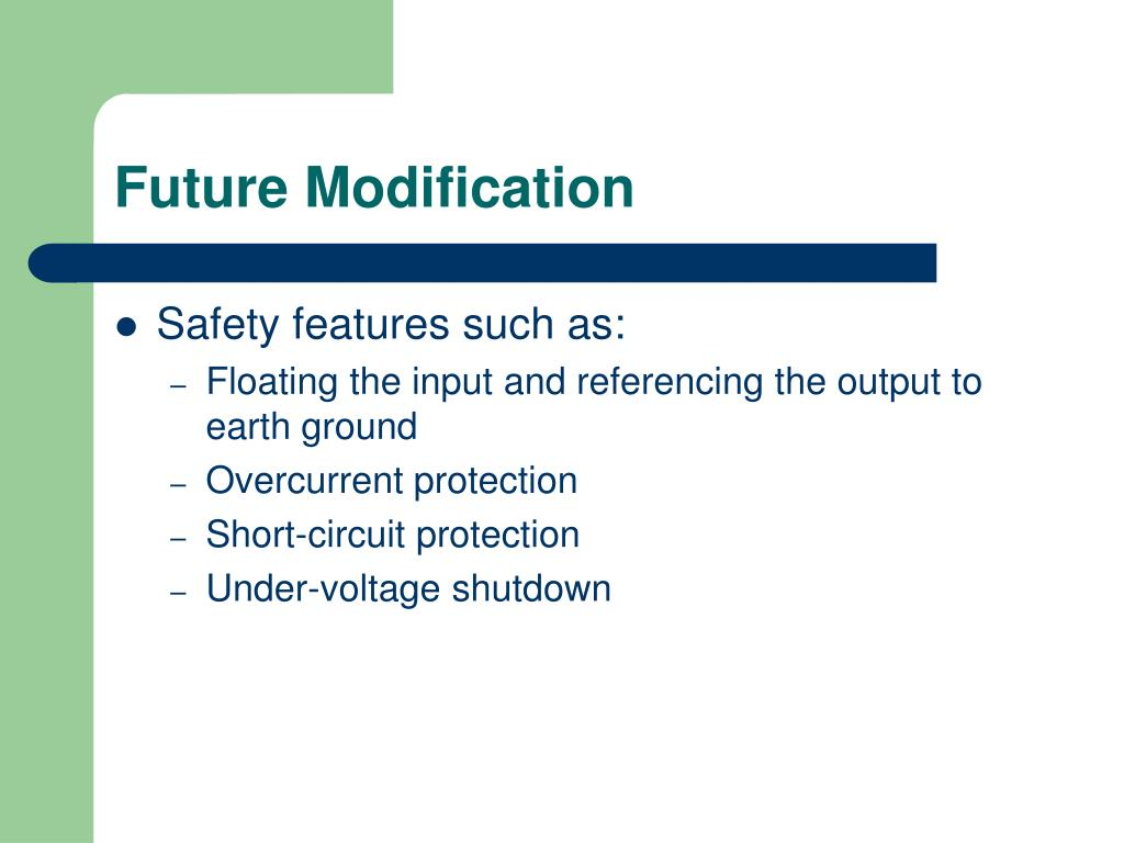 Future Modification