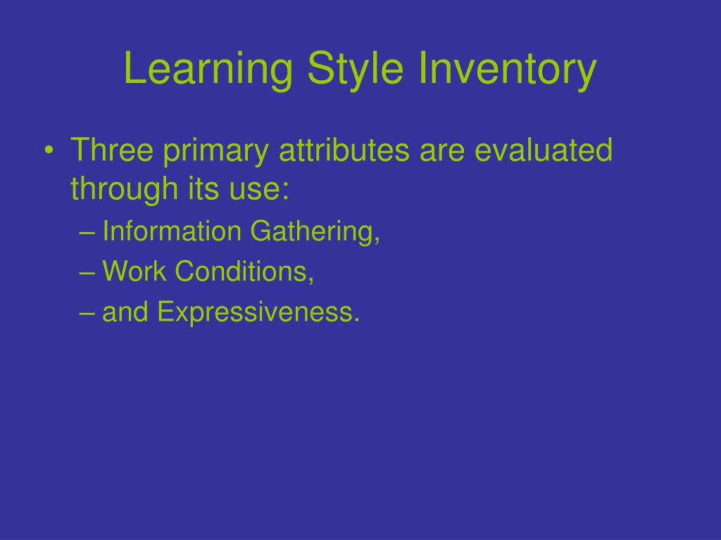 Learning Style Inventory