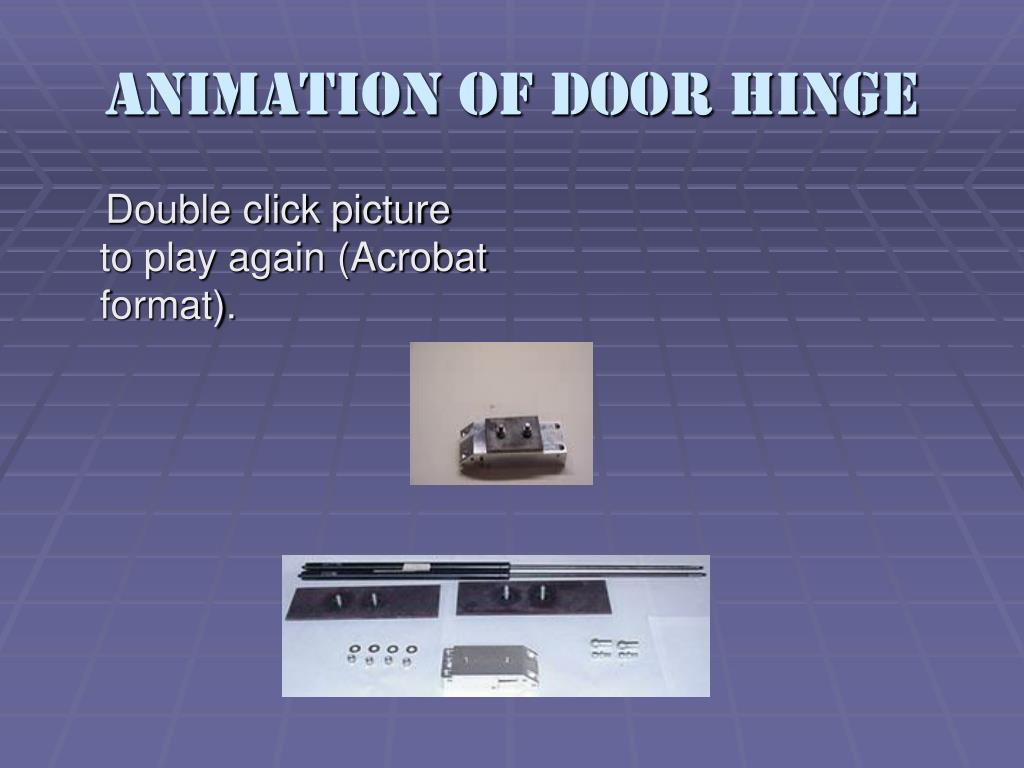Animation of Door Hinge