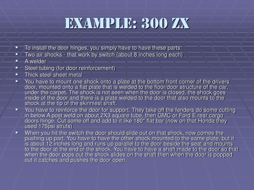 Example: 300 ZX