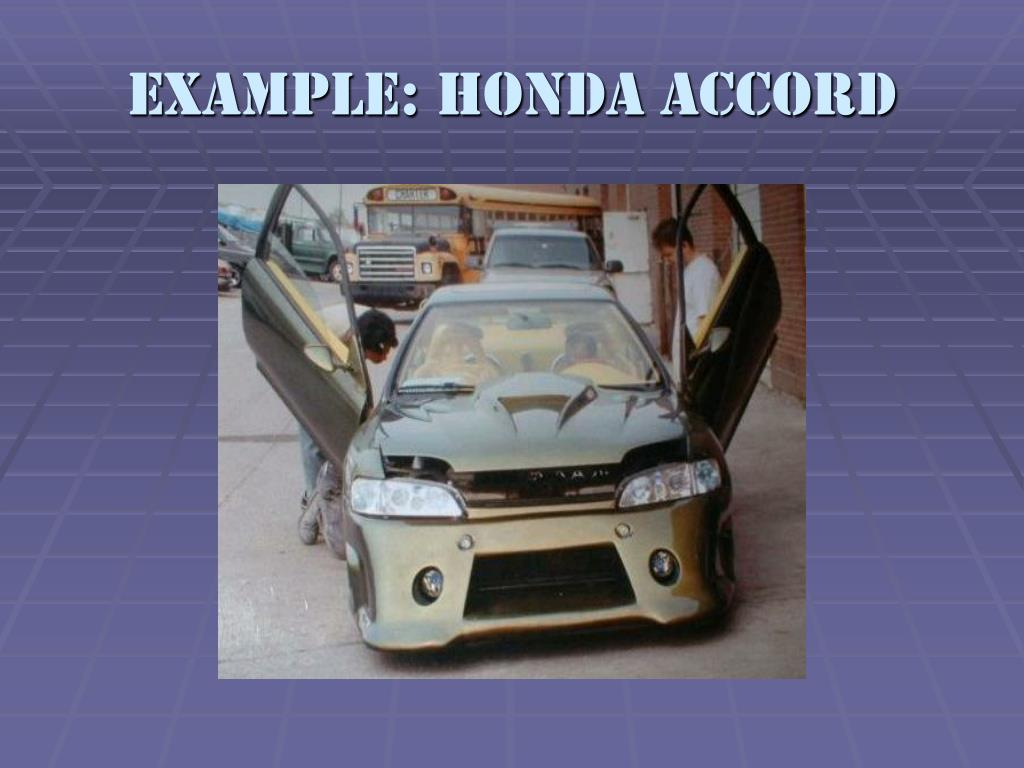 Example: Honda Accord