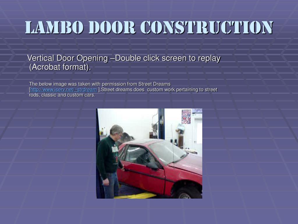 Lambo Door Construction
