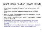 infant sleep position pages 50 51
