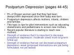 postpartum depression pages 44 45
