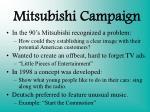 mitsubishi campaign