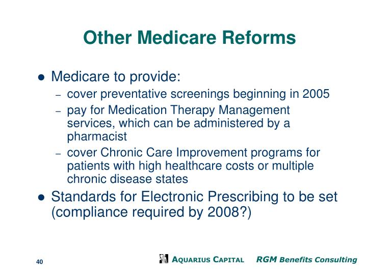 Other Medicare Reforms