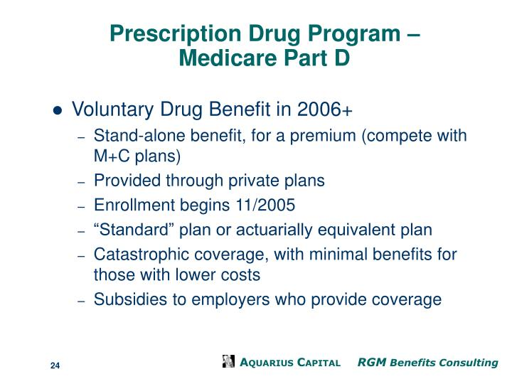 Prescription Drug Program –