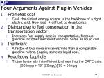 four arguments against plug in vehicles