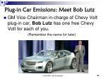 plug in car emissions meet bob lutz