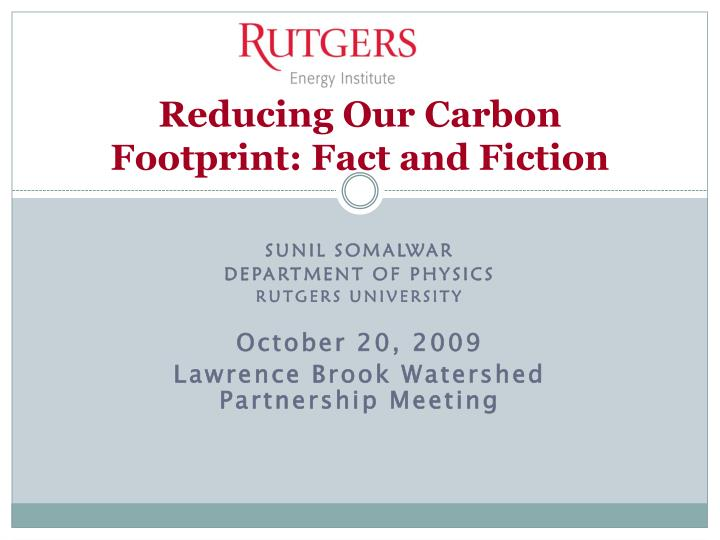 reducing our carbon footprint fact and fiction n.