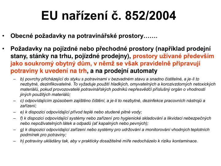EU nařízení č. 852/2004